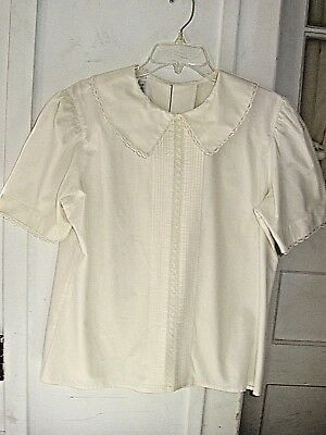 Vintage Ship N Shore For Me Blouse 40 Long Sleeve Geometric Red