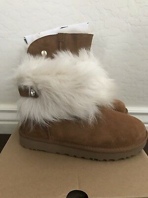 be937b246b0 NWT NEW WOMEN'S Size 6 UGG Boot Fluff Momma Mongolian White Fur ...