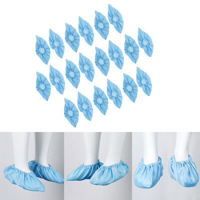 10Pairs Blue Reusable Anti-static Shoe Boot Cover Overshoe Protector Home