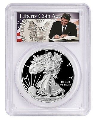 2019 W 1oz Silver Eagle Proof PCGS PR70 DCAM - Liberty Coin Act Label