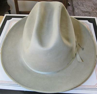 Vintage Stetson Silver Belly Gray Open Road 3X Beaver Hat Sz 7 1 8 Original 481767082fb3