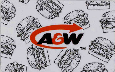 A&W CANADA RESTAURANT GIFT CARD Burger logo NO VALUE RECHARGEABLE