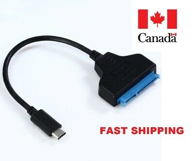"USB3.1 Type-C to 22 Pin SATA for 2.5"" SDD Hard Drive Adapter Cable Converter"