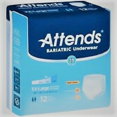 Attends Bariatric Disposable Adult Underwear, 2-XL, Heavy Absorbency, Case of 48