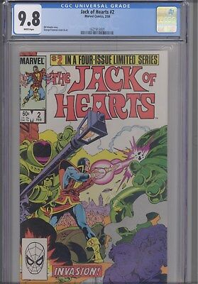 Jack of Hearts #2  CGC 9.8  1984 Marvel George Freeman Comic : New Frame