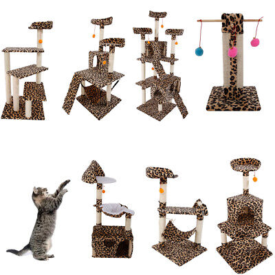 "20""32""45""47""51""72"" Furniture Cat Tree Tower Condo Play House Pet Scratch Post"
