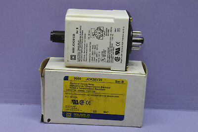 SQUARE D Class 9050 Type JCK-28V20 Solid State Timing Relay  - NEW - Made in USA