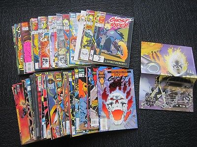 Ghost Rider comic lot - #1 to #83 - 1990 1st app. new Ghost Rider 84 issues