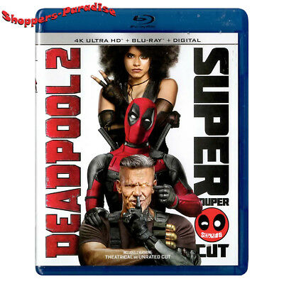 ⭐ DEADPOOL 2 ⭐ Movie Blu-Ray Disc (Extended Edition) & Case (USA Edition) 2018