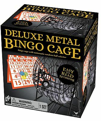 Deluxe Wire Cage Bingo Set styles will vary