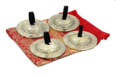 DharmaObjects Belly Dancing OM Namah Pro Finger Zills or Cymbals