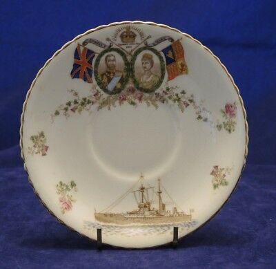 1911 Coronation Souvenir Saucer George V & Mary For Civil Service Store Sydney