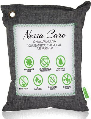 Nessa Care Bamboo Charcoal Air Purifying Bag Odor Eliminator for Gym Bags Car...