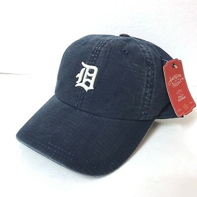 new DETROIT TIGERS HAT unstructured dad cap faded-wash navy vtg-look small-logo