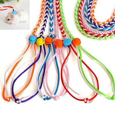 Adjustable Ferret Harness/Baby Rabbit/Hamster Rat Mouse Leash Lead Rope