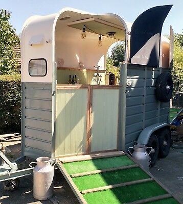 Mobile Vintage Rice Horse Box Trailer Weddings & All Events Bar Hire
