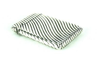 Antique Victorian Sterling Silver Card Case Wrythen Moulded Chester 1890