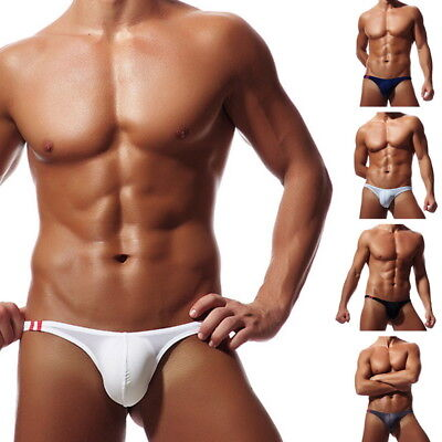 Men's Sexy Briefs Thin Thong Bikini Low Rise T-Back G-String Stretchy Underwear