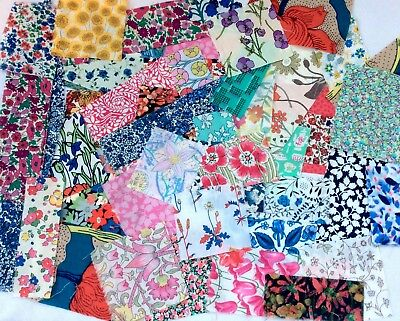 72 Liberty Tana Lawn Fabric Squares & Mini Pieces patchwork quilt ALL COLOURS