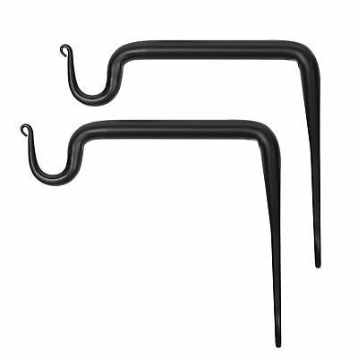 Wallniture Wall Mounted Wrought Iron Bracket - Hook for Hanging Planters Flow...