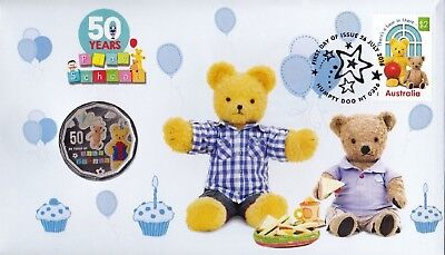 2016  PNC / FDC 50c  PLAY SCHOOL 50 YEARS. BIG TED & LITTLE TED