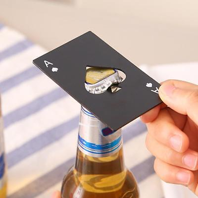 Mini Spade Poker Card Beer Bottle Opener Stainless Steel Bottle Opener Bar Tool