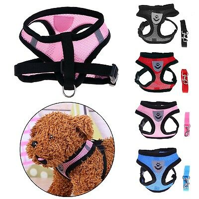 Breathable Pet Dog Mesh Harness Vest Leashes Walking Traction Rope Chest Straps