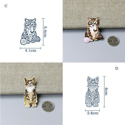 Patches for Cute Cat Embroidery Bag Dress Hat On Patch Repairing Sticker 8C