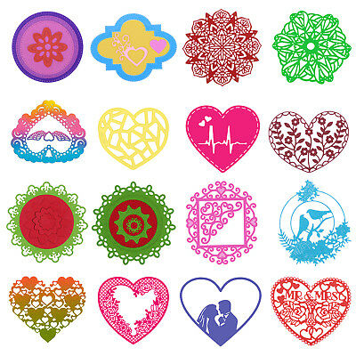 Metal Round Heart Cutting Dies Stencil Scrapbooking Embossing DIY Card Crafts