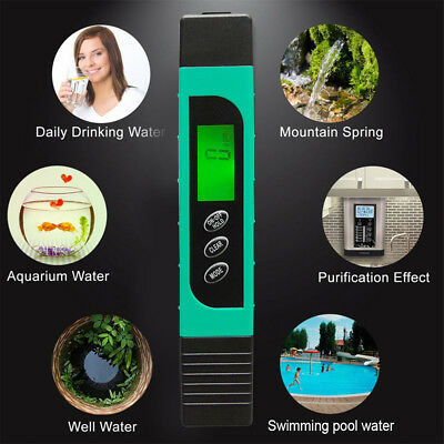 Intelligent Backlight LCD PH Meter TDS EC Water Quality Temperature Testers Hot