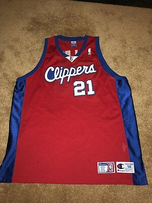 b0ef2314e Champion Los Angeles Clippers Darius Miles Jersey 3XL Size 56 Authentic  Stitched