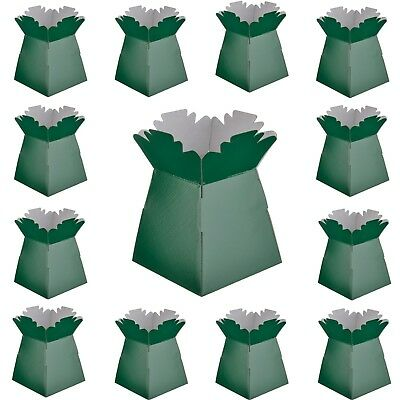 Dark Green - Living Vases Florist Bouquet Box Flower Sweet Boxes-Choose Quantity