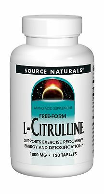 Source Naturals L-Citrulline 1000mg - Nitric Oxcide Booster - 120 Capsules