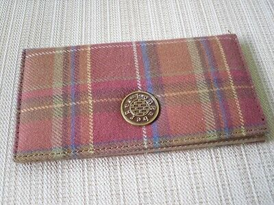 Longaberger plaid Checkbook cover rust material