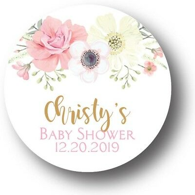 30 Boho Girl Baby Shower Personalized Favors Treat Bag Stickers