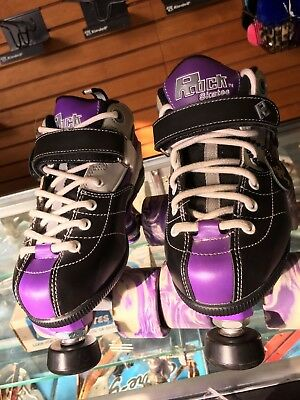 Purple Sure Grip Rock Skates Quad Roller Skates GT-50 Size 4 NOS