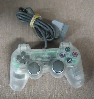 Sony PlayStation 1 PS1 PSOne OEM Clear Dualshock Controller SCPH-1200