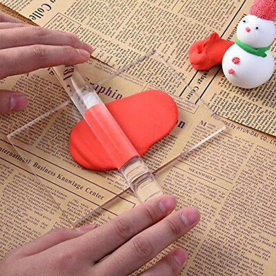 Soild Clear Polymer Clay Acrylic Roller Rolling Pin Craft DIY Tools 20x2cm