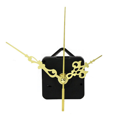 Quartz Clock Movement Mechanism DIY Repair Parts Gold + Hands