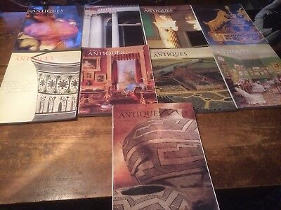 THE MAGAZINE ANTIQUES lot of 9 from 1988 1989 1990