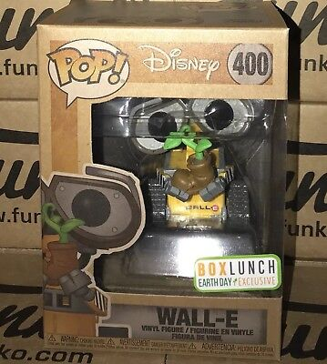 FUNKO POP! DISNEY PIXAR WALL-E EARTH DAY #400 BOXLUNCH EXCLUSIVE In Hand