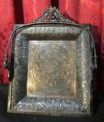 Vintage Antique Victorian Silver Plate Brides Basket With Cupids In The Center