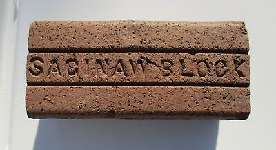 Antique Saginaw Block Paver Brick Original 1894 - 1917 Historical & Collectible