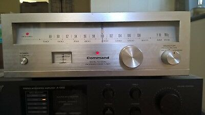 Vintage Command FM AM Stereo Tuner, Model: TU-100A2, Working Condition
