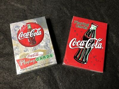 Coca Cola Playing Cards Sealed 2 Sets 1998