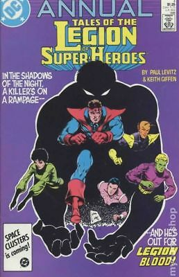 Legion of Super-Heroes (2nd Series) Annual #4 1986 VG Stock Image Low Grade