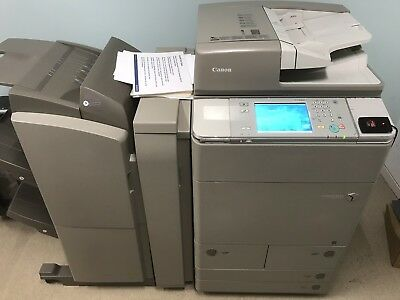 Canon Ira C7260 Color Photocopier Network Printer Scanner Booklet Finisher