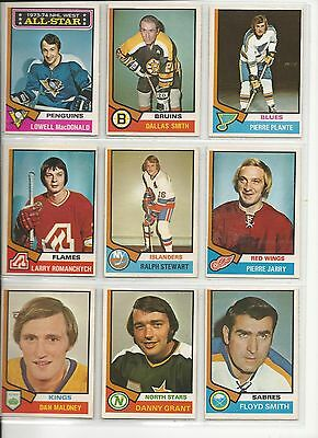 Lot of 5 Different 1974-75 OPC O-Pee-Chee Cards **U-Pick** Complete Your Set