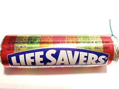 Vintage Lifesavers Candy Roll Five Flavors 11 Candies 1994 Sealed Candy Packet