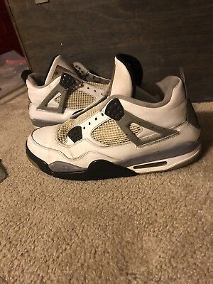 Men s 2012 Air Jordan IV 4 Retro White Cement Grey Black Size 12  Restoration! 67d2fbb48